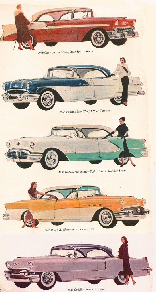 GM line of cars - 1956