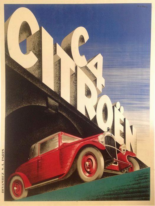 Lettrage art deco Citroën