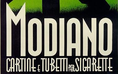 Lettrage art deco Modiano