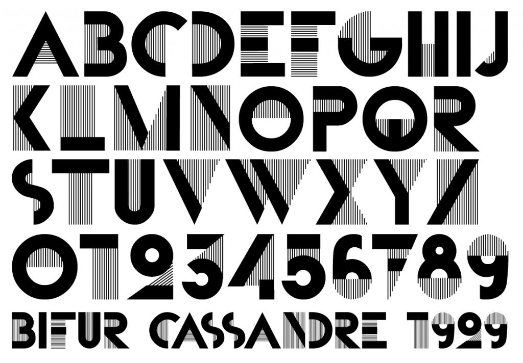Typo Bifur - Cassandre - 1929