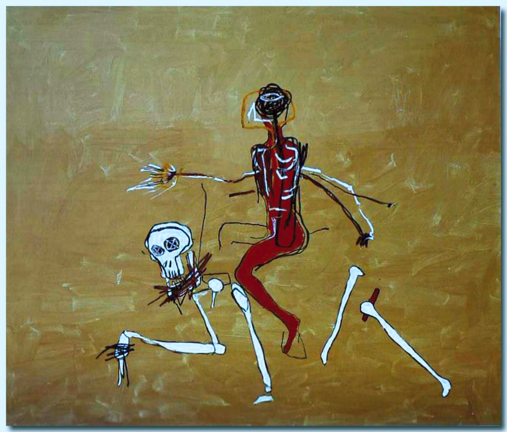 Basquiat - Riding death - 1988