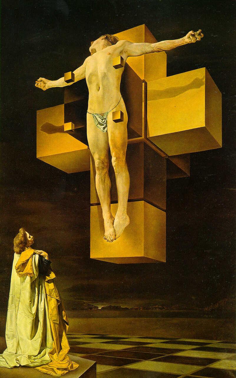 Dali - Crucifixion Corpus Hypercubus_1954