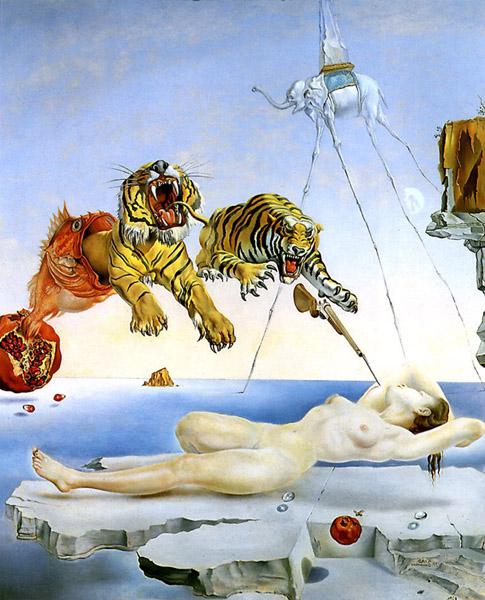 Dali-reve_provoque_par_le_vol_dune_abeille(1944)