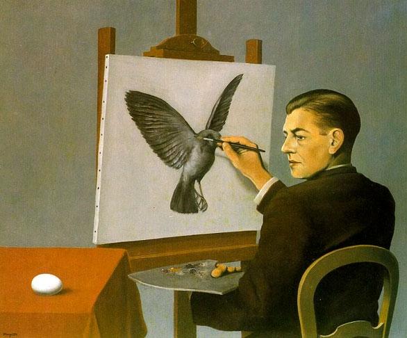 Magritte - La Clairvoyance - 1936