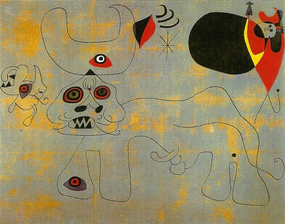 Miro - La Course de taureaux - 1945