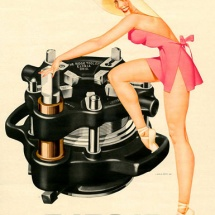 Ridgid - G. Petty - 1952 Pin Up