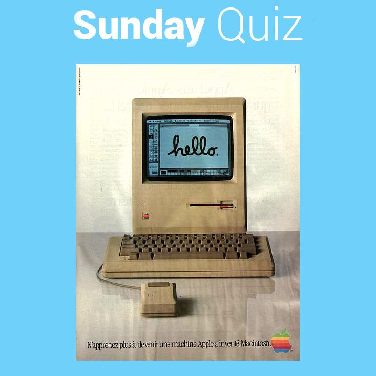 1- En quelle année est sorti le Macintosh ?