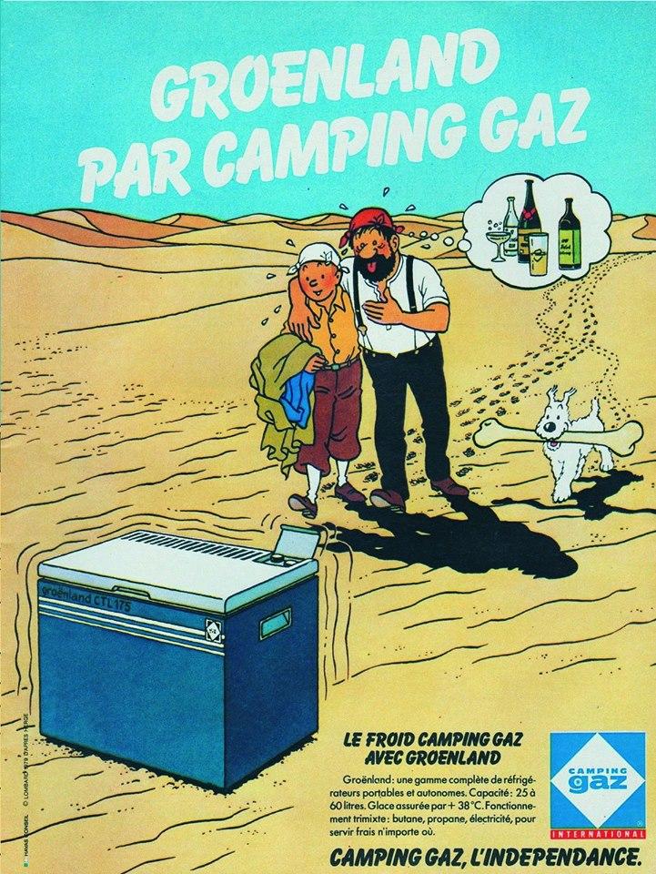 Camping gaz - Tintin