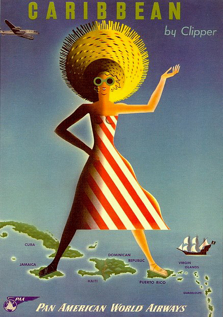 Caribbean by Clipper - Carlu - 1958