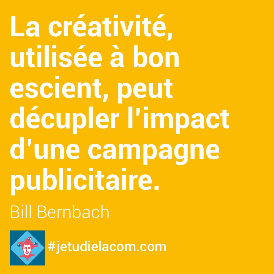 citation créativité B. Bernbach