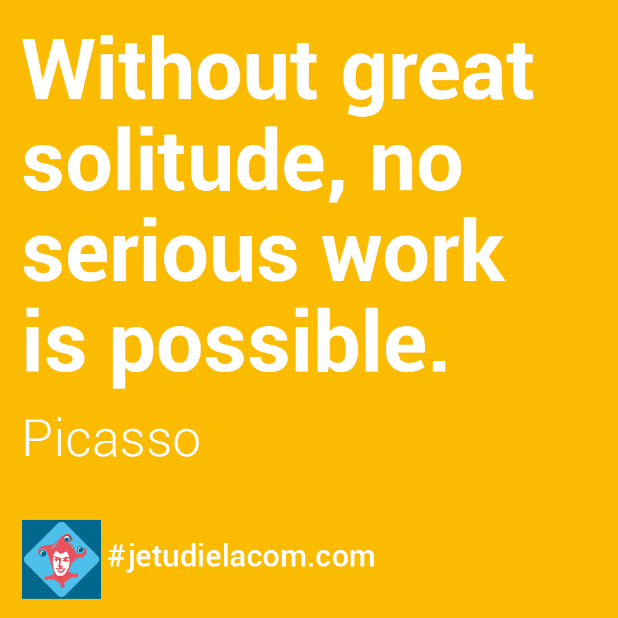 citation solitude - Picasso