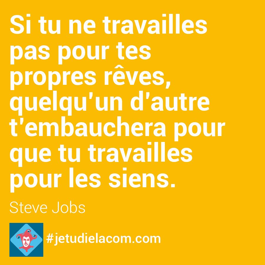citation rêves - Steve Jobs