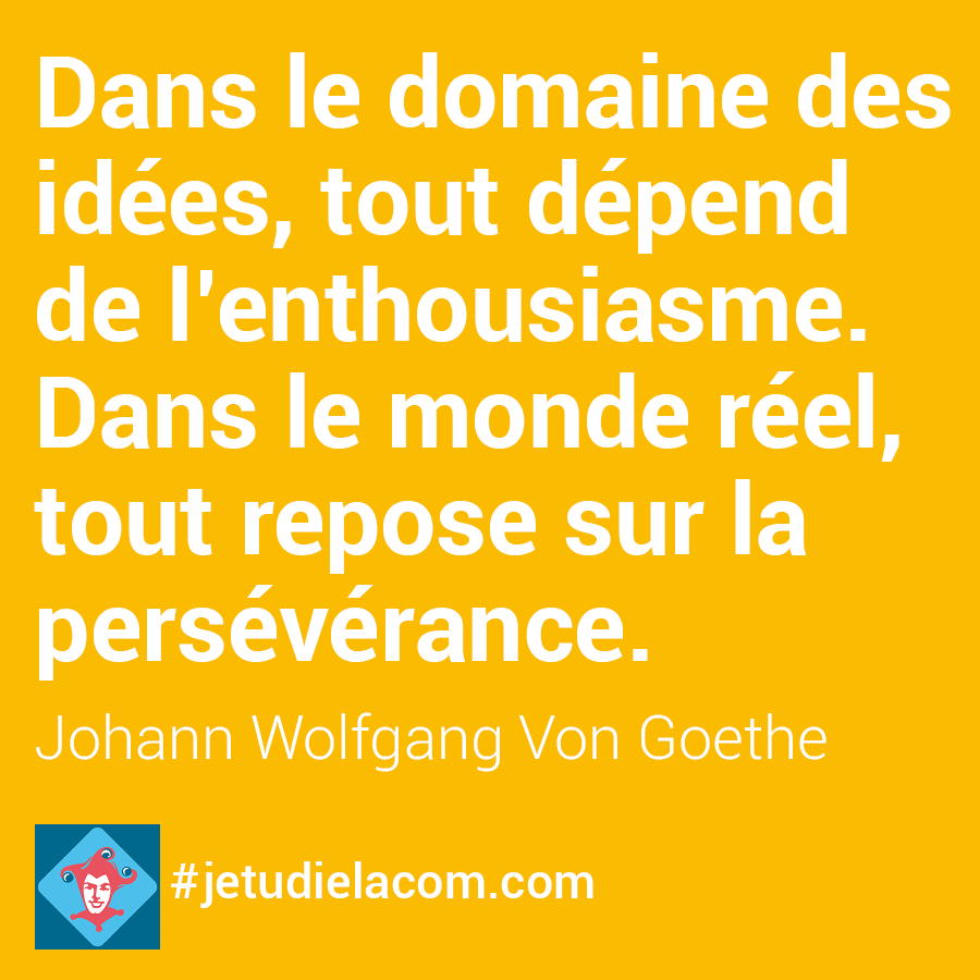 citation persévérance - W. Von Goethe