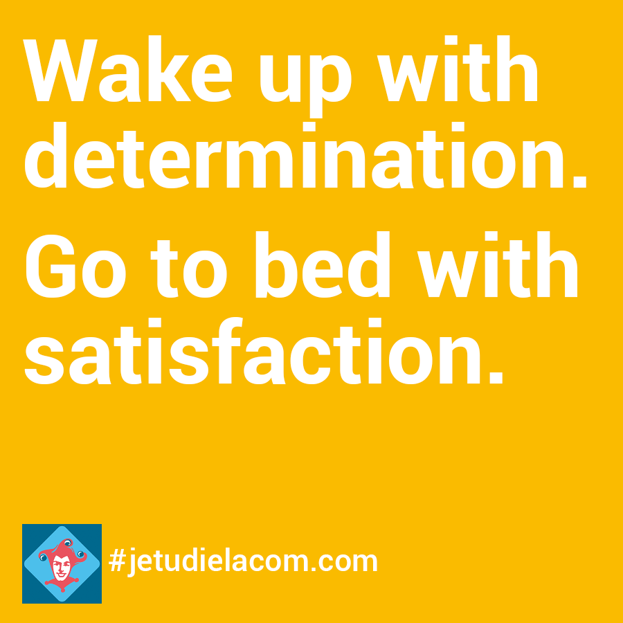 citation - wake up with determination