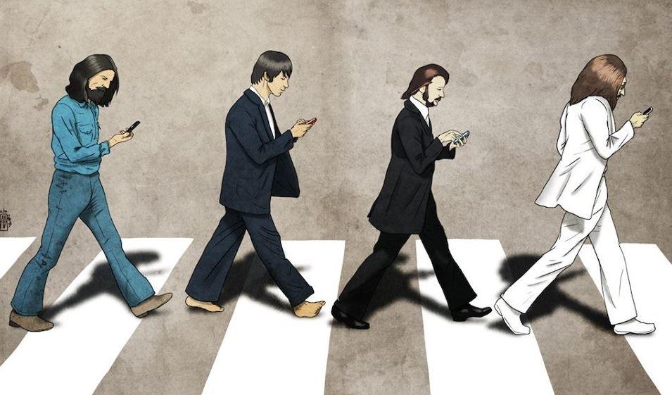 Beatles smartphone - Humour