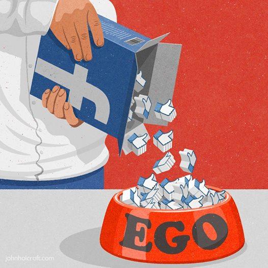 Facebook ego - Humour John Holcroft
