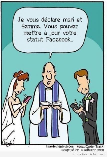Facebook mariage - Humour