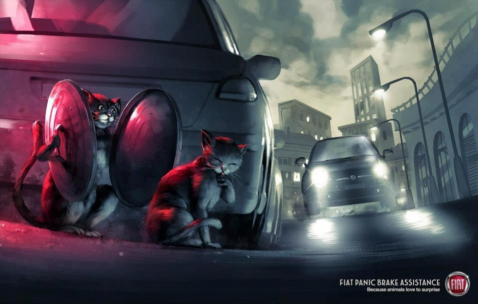 Fiat panic brake - Humour