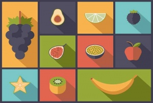 Fruits - Flat design
