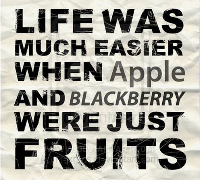 Apple & Blackberry - Humour