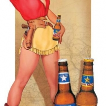 pin-up lone star beer