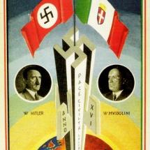 """Visite d'Hitler à Rome - 1938 """"Paix, civilisation, travail"""""""