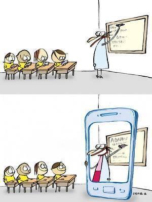Prof smartphone - Humour