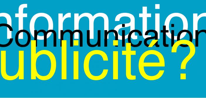 Information, communication et publicité : introduction