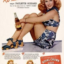 Royal Crown Cola - Paulette Goddard