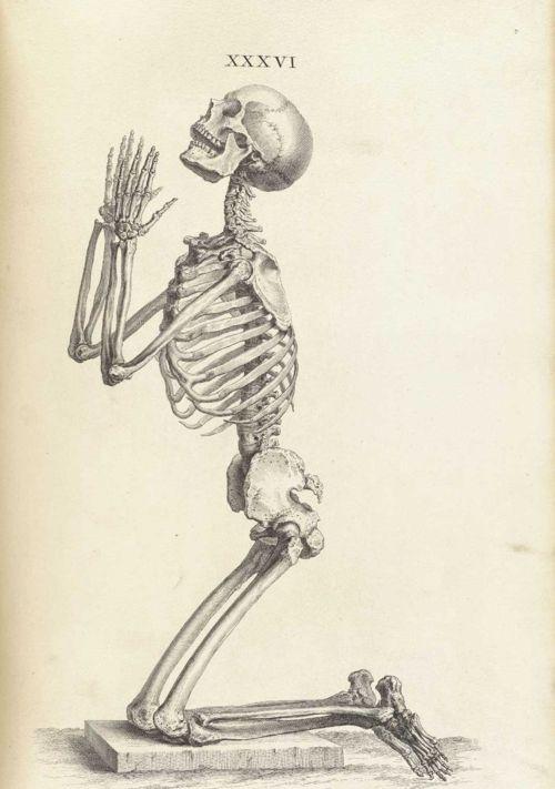 squelette prière