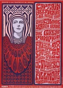 Wes Wilson - Concert Fillmore auditorium - 1966